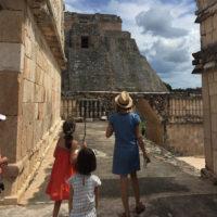 Yucatan-Aurelie-Familiy-trip-Chichen-Iza,-uxmal-2